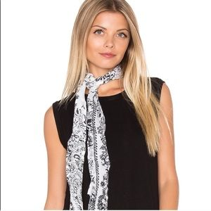 Michael Stars Black and White Skinny Scarf NWT!